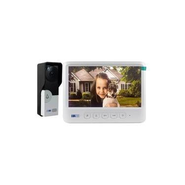 Imagem de Vídeo Porteiro Eletrônico Residencial Interfone Campainha Câmera C/ Tela Colorida 7 Polegadas Destrava Portão