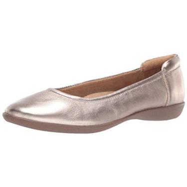 Sapatilha feminina de balé flexível Naturalizer, Light Bronze, 7.5