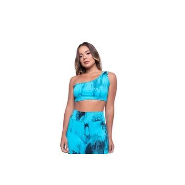 Top Poliamida Tie Dye - Azul