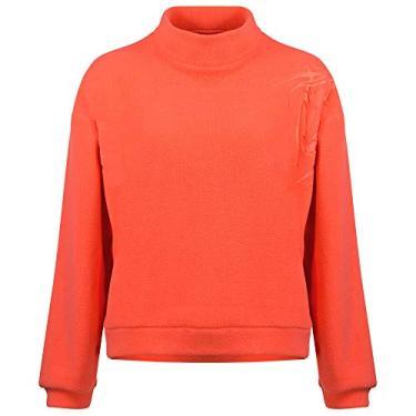 Suéter feminino de lã Horze Karen, Deep Coral Pink, 42