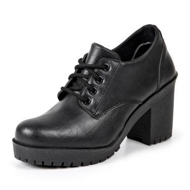 Bota Ankle Boot Luma Ventura Emy Preto  feminino