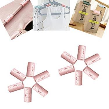 Imagem de FONGDY 12 peças de clipes fixos antiderrapantes para lençol de cama, prendedores, clipes para lençóis, para tiras de suporte de lençol de cama tamanho completo (rosa)
