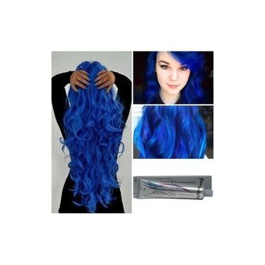 Imagem de Tinta Cabelo Azul Royal Coloração 60g Hidratylife Mairibel