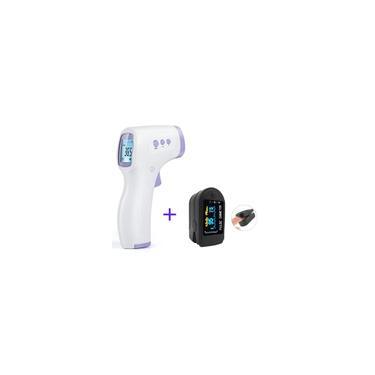 Kit Termometro Infravermelho + Oximetro Digital