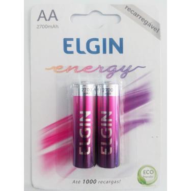 Pilhas Recarregável AA Energy 2700 Mah Elgin 2 Unid.