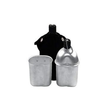 Cantil de Alumínio com Capa e Copo Preto - EchoLife