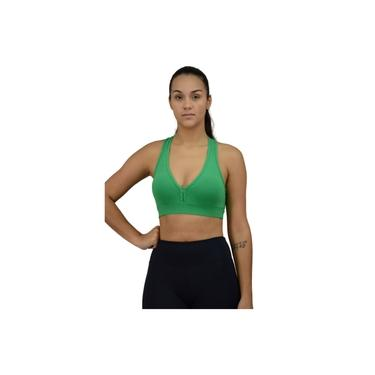 Top Fitness Sustentação Bojo Removível Verde