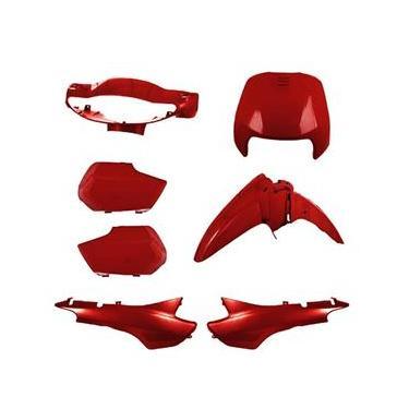 Conjunto Carenagem Pro Tork Biz 100 1998 Até 2001 Vermelho Macéio