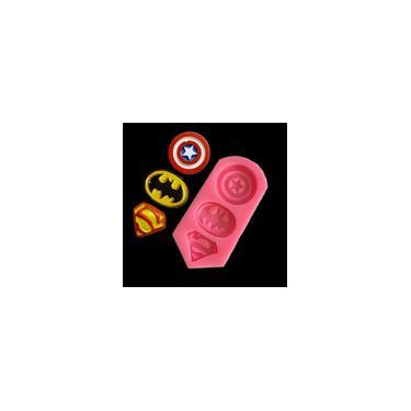 Capitão América Superman Batman Símbolo Diy Bolo Mold Mold Chocolate Candy-Bestow