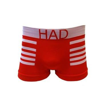 Cueca Boxer 90% Poliamida 24173 - Had - Vermelho/branco