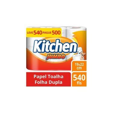 Papel Toalha Kitchen Jumbo Leve 540 Pague 500 Folhas