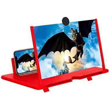Lupa de tela de telefone LYPER de 12 polegadas, amplificador de tela dobrável para celular 3D atualizado, suporte de tela dobrável amplia a tela do projetor para filmes, vídeos, jogos antireflexo