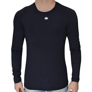 Imagem de Camisa Termica Segunda Pele Alta Compressão Kanxa Original (Preto, GG)