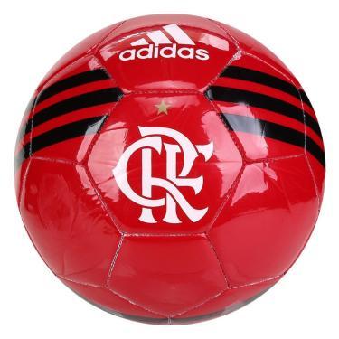 Bola Futebol Campo Adidas Flamengo FS6604, Cor: Vermelho/Preto, Tamanho: UNICO