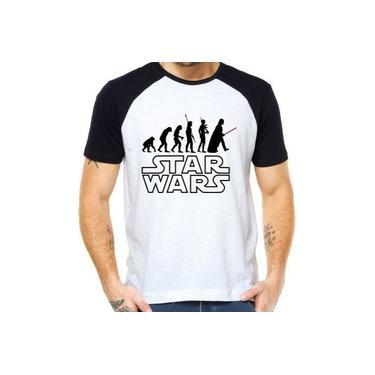 Camiseta Raglan Evolução Darth Vader - Star Wars