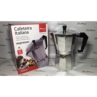 Imagem de Cafeteira Italiana Aço Inox 300ml 6 Xicaras - Wincy