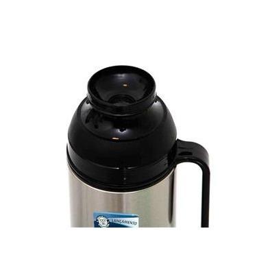 Garrafa Térmica Café Chá Sopa Aço Inox 1 Litro Termolar Lumina c/ Tampa - Prata