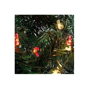 Pisca-Pisca 20 Lâmpadas Luz Brilhante em Formato de Bengala - Christmas Traditions