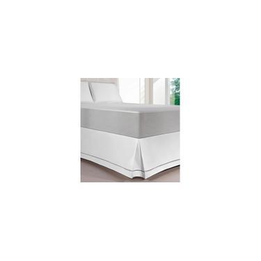 Imagem de Saia Para Colchão Box Ponto Palito Queen Branca - Kacyumara