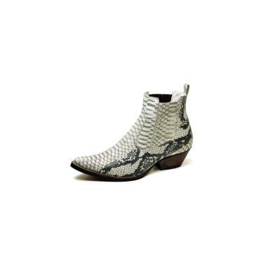 Bota Country Masculina Bico Fino Top Franca Shoes Gelo Preto  masculino