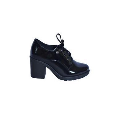 Sapato Oxford Preto Brilhante Quiz 67-77102