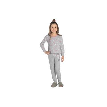 Pijama Infantil Feminino Unicórnio Rovitex Kids Cinza