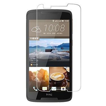 [2 unidades] Protetor de tela para HTC Desire 828, protetor de tela de vidro temperado transparente resistente a arranhões para HTC Desire 828 de 5,5 polegadas