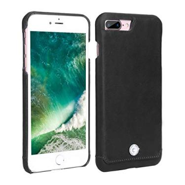 Capa para iPhone 7 Plus, iPhone 8 Plus, Couro Legítimo Original, Pierre Cardin, PC64-01, Preto, Pierre Cardin, PC64-01, Preto