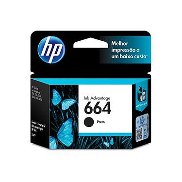 Cartucho HP 664 Preto Original (F6V29AB) para HP Deskjet 2136/2676/3776/5076/5276