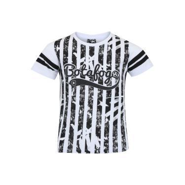 Camiseta do Botafogo Player Feminina - Infantil - BRANCO Braziline f6a17ed96b1a4