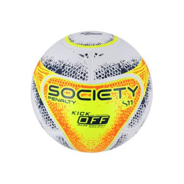 Bola Society Penalty S11 R2 KO VIII - BRANCO LARANJA Penalty 830a01ac954f1