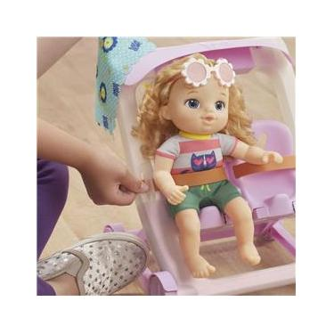 Imagem de Carrinho de Boneca Com Baby Alive Littles Loira E7182 E6703