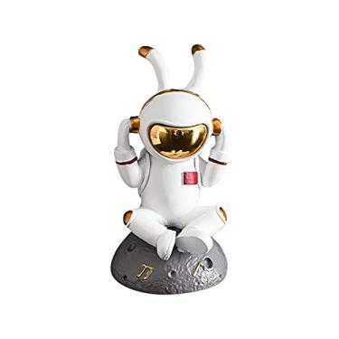Imagem de Astronauta Figura Brinquedos Estátuas do astronauta Modelo Bolo Topper Natal Dia das Bruxas Aniversário Espaço Exterior Tema Festa Presentes Mesa Decoração Carro