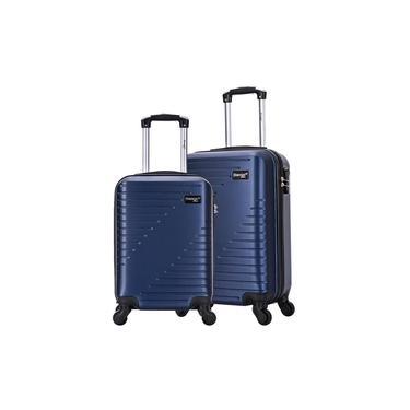 Kit Mala de Viagem Rodas 360 Tam PP e P Swiss Move azul