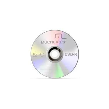 DVD-R Virgem Multilaser Original Gravável Com Logo 16x 4.7gb - 10 Unidades