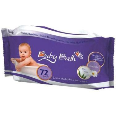 Imagem de Lenços Umedecidos Brasbaby Baby Bath Camomila - 72 Lenços