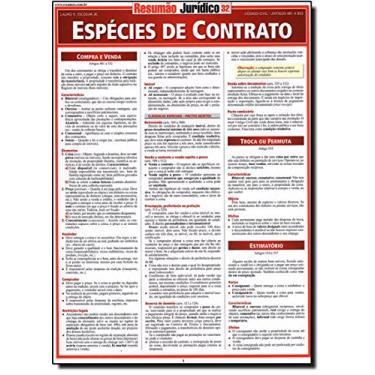 Resumão Jurídico - Espécies de Contrato - Escobar Jr., Lauro R. - 9788577111039