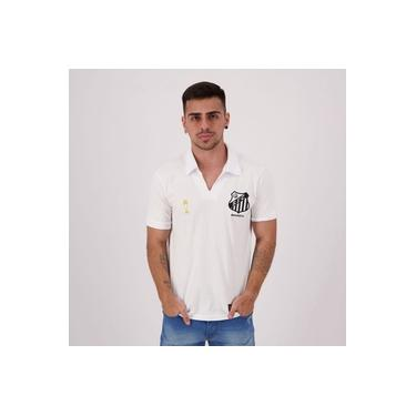 Camisa Santos Retrô Bimundial Branco