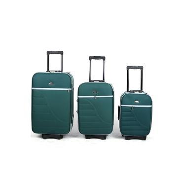 Kit Conjunto 3 Malas De Viagem Com 8 Rodinhas Verde - Verde