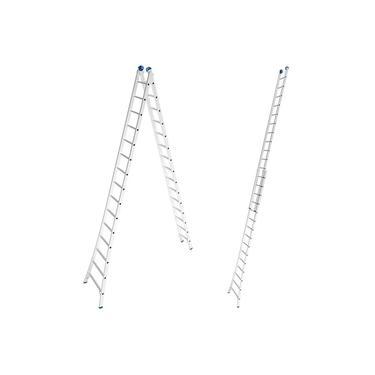Imagem de Escada de Alumínio Extensiva 2 x 15 Degraus 4,49 x 7,57 Metros MOR