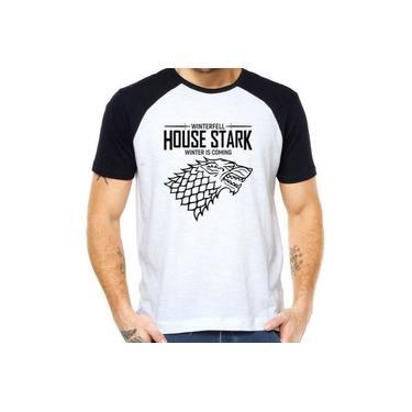 Camiseta Raglan House Stark Game Of Thrones Winter Is Coming