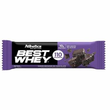 Barra Proteica Best Whey - 1 Barra 32g Brownie de Chocolate - Atlhetica Nutrition
