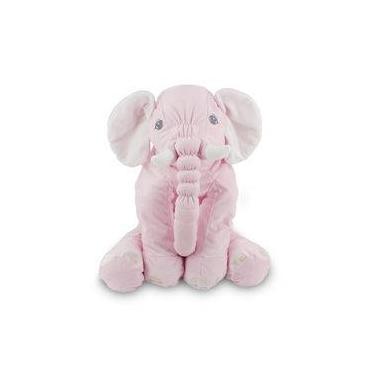Imagem de Elefante De Pelúcia 60 Cm - Almofada Rosa