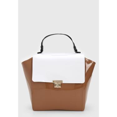 Bolsa Petite Jolie Bicolor Caramelo/Branco Petite Jolie PJ6019 feminino