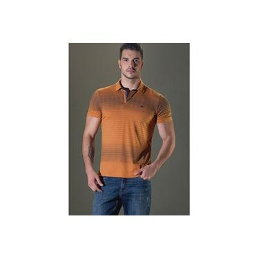 Camiseta Sallo - Gola Polo - Mostarda