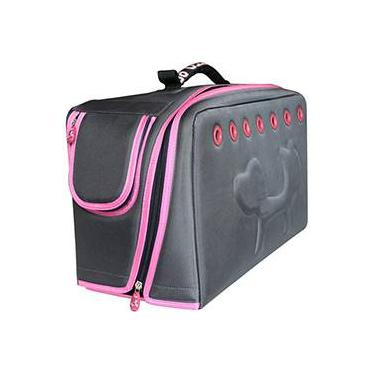 Transportador para Gatos Cinza/Rosa - United Pet