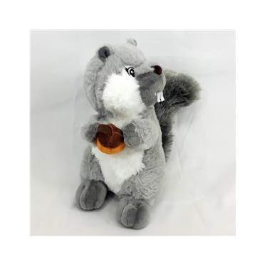 Imagem de Esquilo Pelúcia 20 Cm Cinza - Fizzy Toys