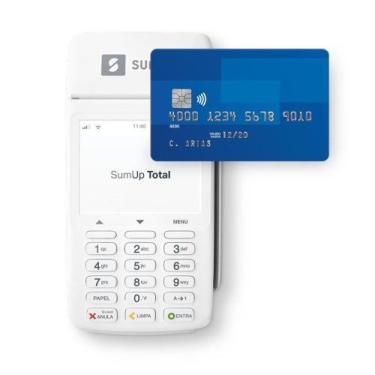Maquininha de cartão  TOTAL WI-FI/3G imprime Recibos - Sumup