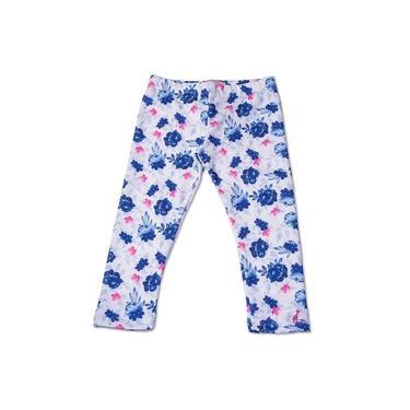 Calça Legging Infantil Floral Azul Toffee - Nº06