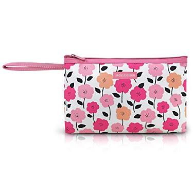 Necessaire De Bolsa Porta Celular Dinheiro Carteira Com Alça Cor:Rosa 2